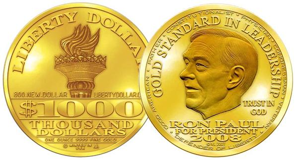 Ron Paul Liberty gold coin