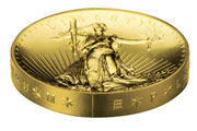 2009 ultra high relief St. Gaudens gold coin edge