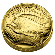 2009 ultra high relief St. <h3>The 2009 ultra high relief St. Gaudens coin </h3>Gaudens gold coin reverse